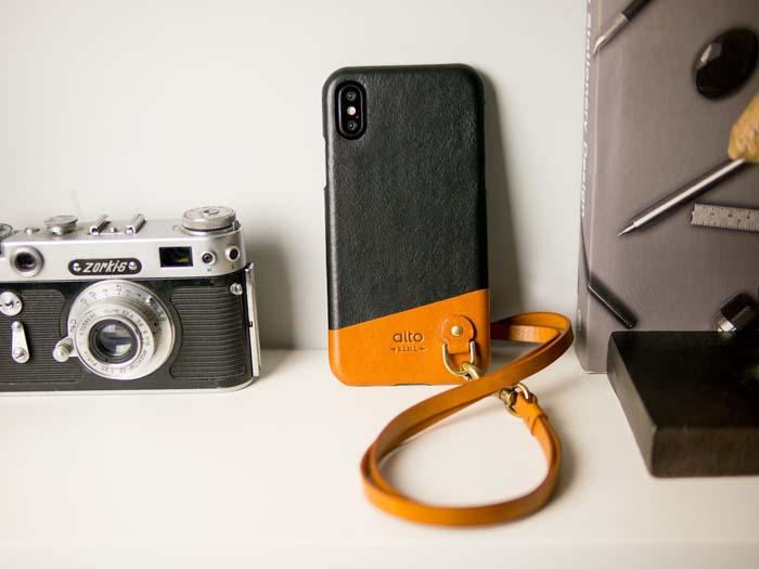 (複製)Alto|iPhone X 皮革保護殼 Metro (萊姆綠/本色)