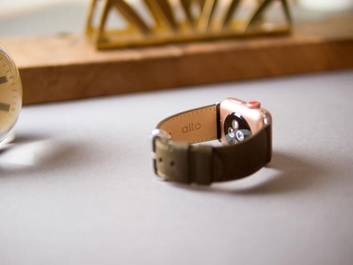 Alto Apple Watch 皮革錶帶 38mm/40mm - 橄欖綠