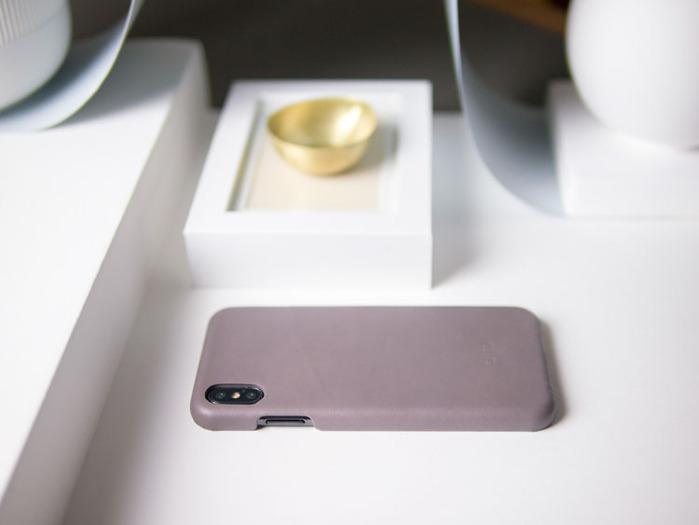 Alto|iPhone Xs Max 皮革保護殼 Original (礫石灰)