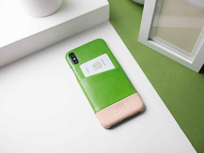 Alto|iPhone Xs Max 皮革保護殼 Metro (萊姆綠/本色)