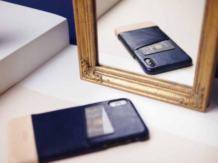 Alto|iPhone Xs Max 皮革保護殼 Metro (海軍藍/本色)