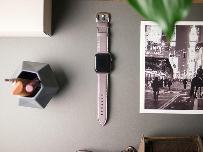 (複製)Alto Apple Watch 皮革錶帶 42/44mm - 海軍藍