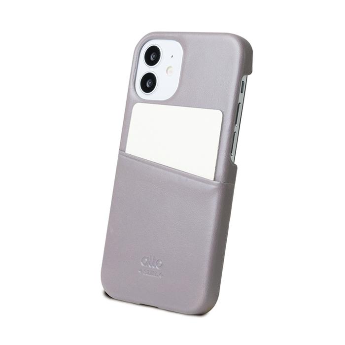 Alto|iPhone 12 mini 5.4吋 插卡皮革手機殼背蓋 Metro (礫石灰)
