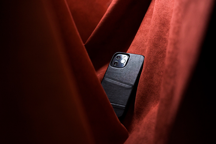 (複製)Alto|iPhone 12 /Pro 6.1吋 插卡皮革手機殼背蓋 Metro (焦糖棕/渡鴉黑)