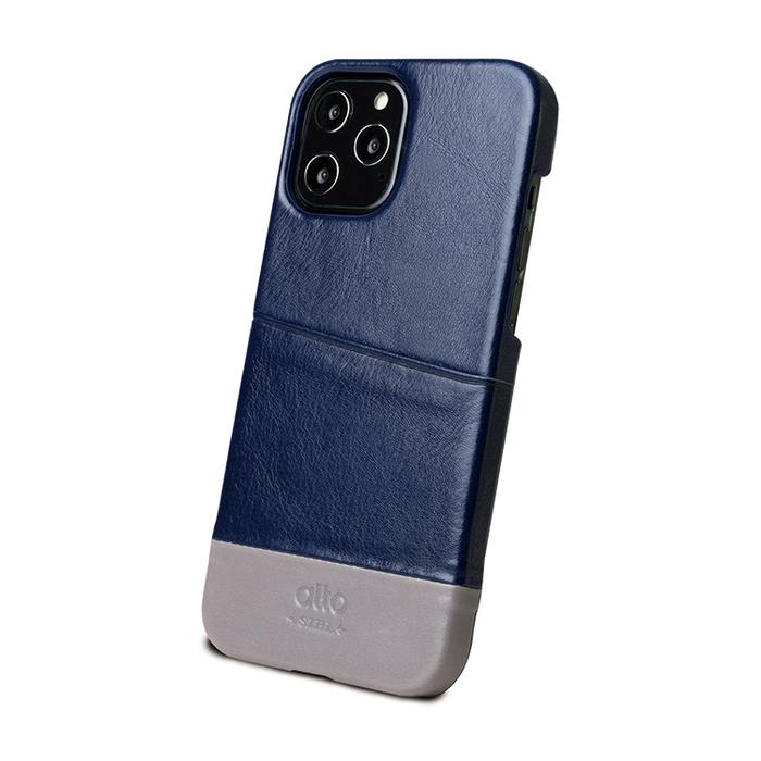 (複製)Alto|iPhone 12 Pro Max 6.7吋 插卡皮革手機殼背蓋 Metro (礫石灰/本色)