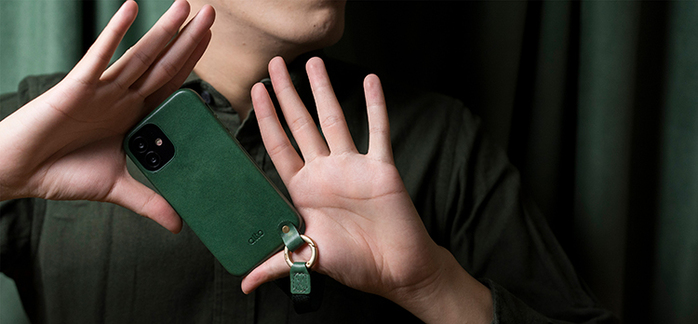 (複製)Alto|iPhone 12 mini 5.4吋 頸掛卡插皮革防摔手機殼Anello 360 - (礫石灰) (附頸掛繩)