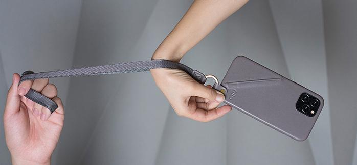 (複製)Alto|iPhone 12 /Pro 6.1吋 頸掛卡插皮革防摔手機殼Anello 360 - (焦糖棕) (附頸掛繩)