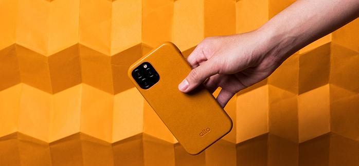 (複製)Alto|iPhone 12 Pro Max  6.7吋 頸掛卡插皮革防摔手機殼Anello 360 - (渡鴉黑) (附頸掛繩)