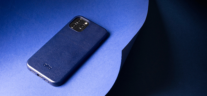 Alto|iPhone 12 /Pro  6.1吋 真皮手機殼背蓋 Original 360 - (海軍藍)