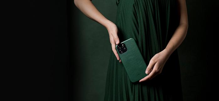 Alto|iPhone 12 /Pro  6.1吋 真皮手機殼背蓋 Original 360 - (森林綠)