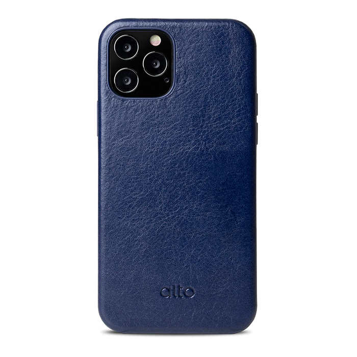 Alto|iPhone 12 Pro Max  6.7吋 真皮手機殼背蓋 Original 360 - (海軍藍)