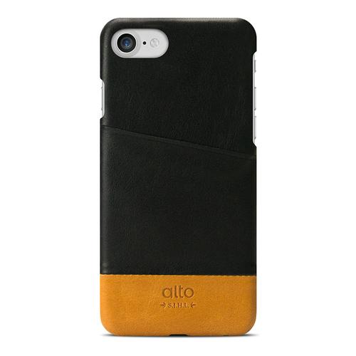 Alto|iPhone 8 / iPhone 7 真皮手機殼背蓋,Metro(黑色/淺棕)