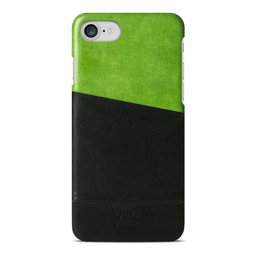 Alto|iPhone 8 / iPhone 7真皮手機殼背蓋,Metro(萊姆綠/黑色)