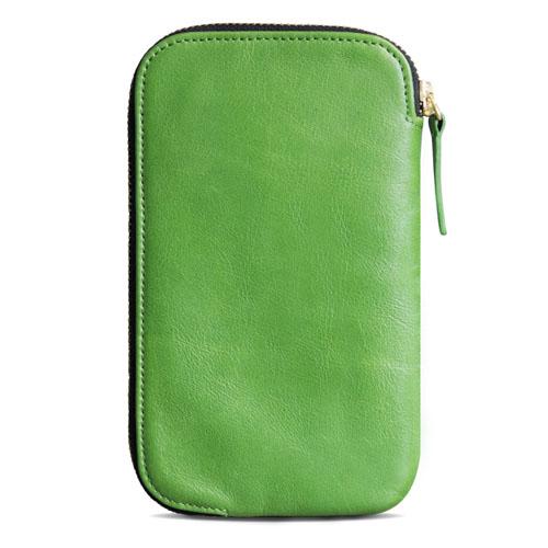 alto 皮革手機收納包 - 萊姆綠