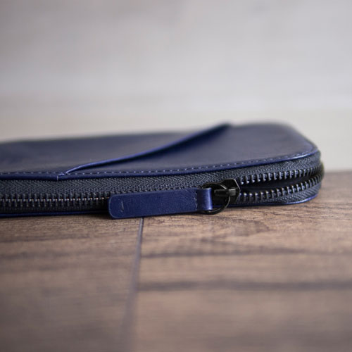 Alto|皮革手機收納包 - 海軍藍