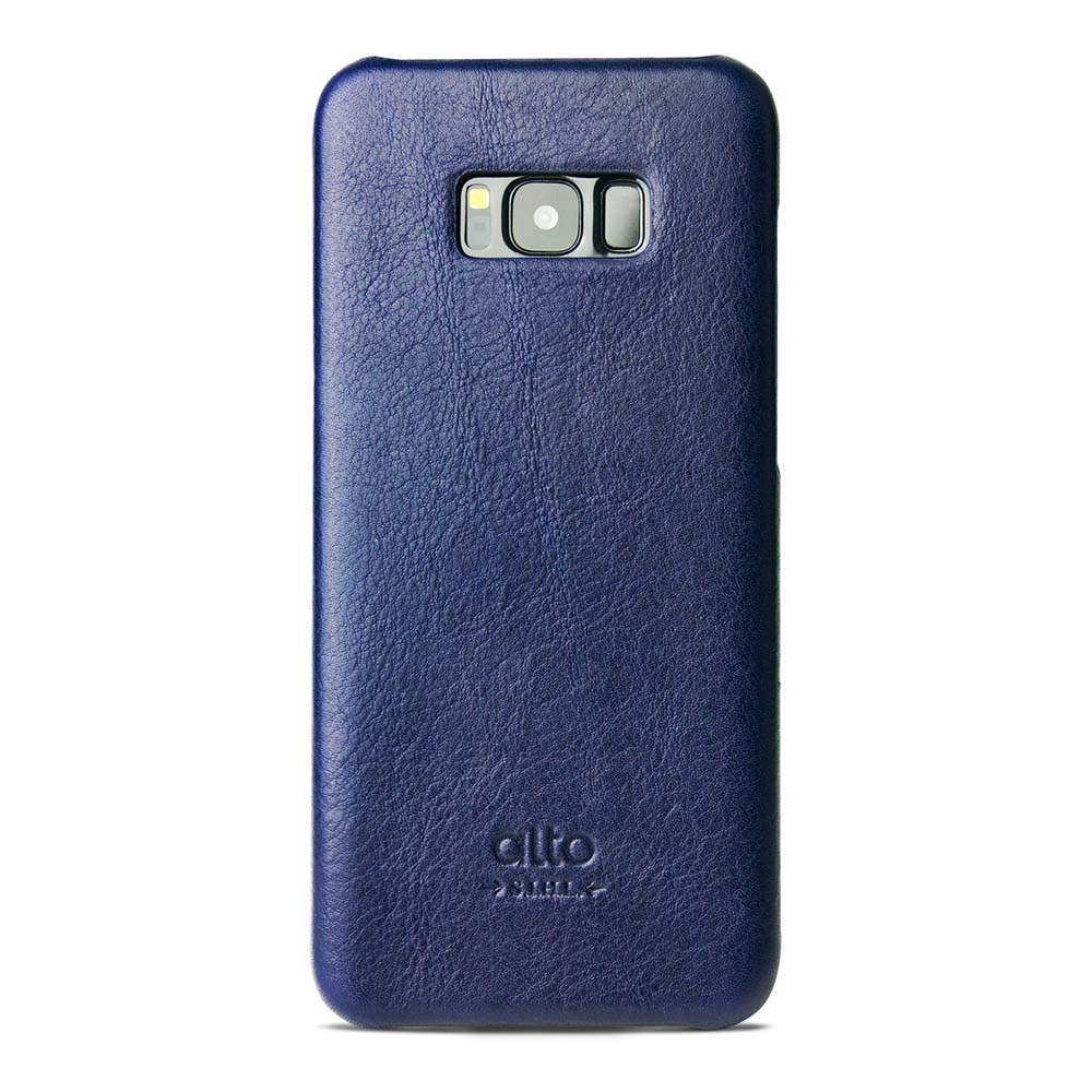 Alto|Samsung Galaxy S8+ 真皮手機殼背蓋 Original - 海軍藍