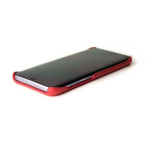 Alto Samsung Galaxy S8+ 真皮手機殼背蓋 Original - 珊瑚紅