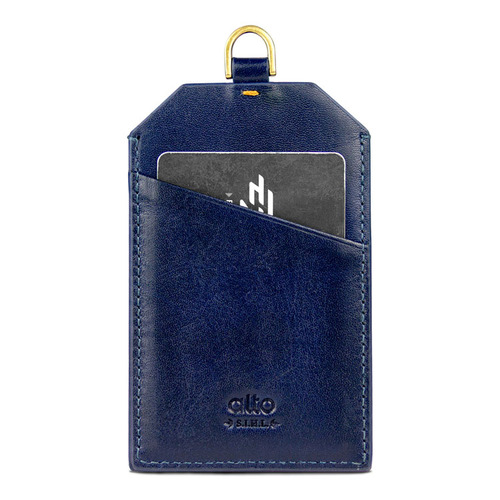 Alto alto 皮革證件套 Badge Holder (海軍藍)