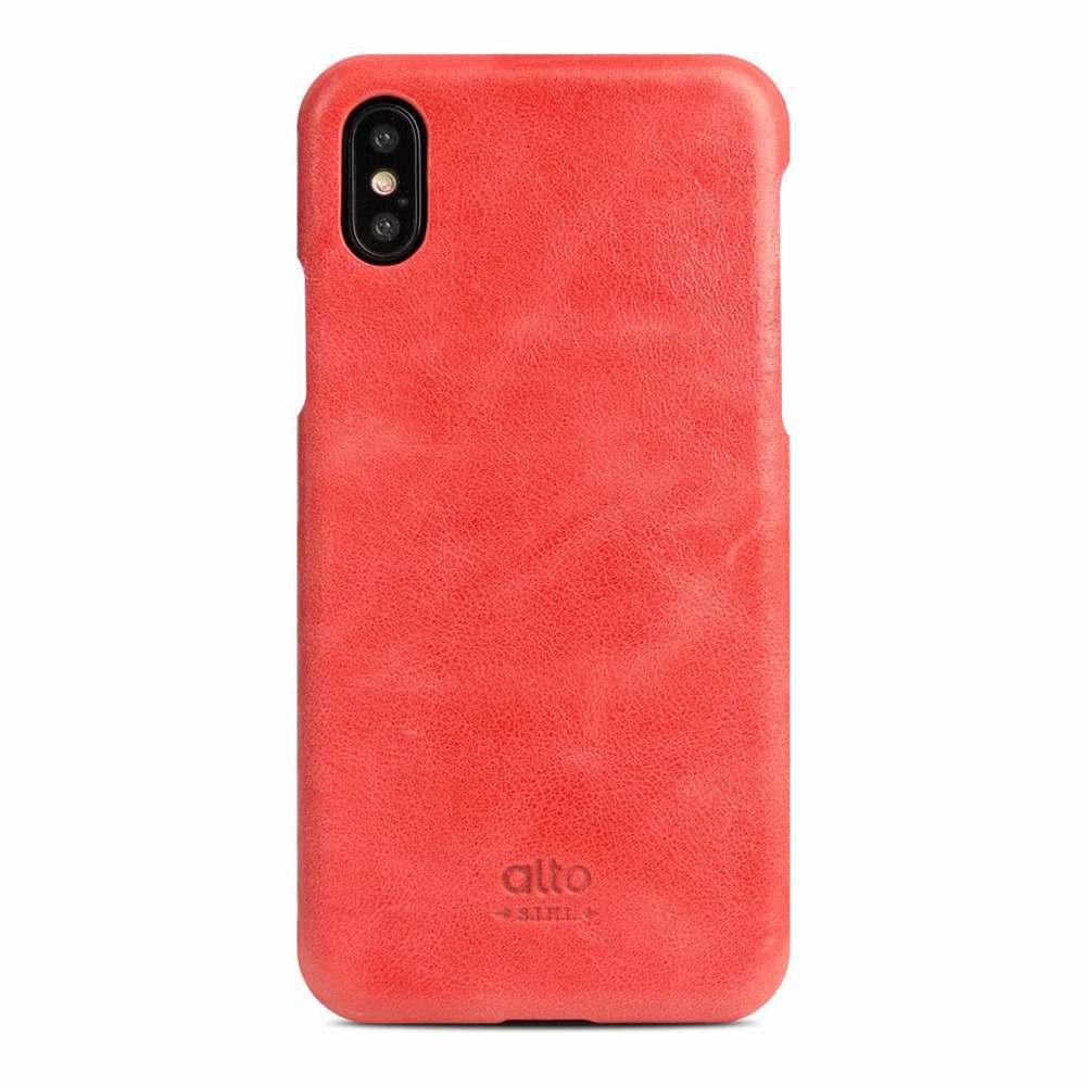Alto|iPhone X / Xs 皮革保護殼 Original (珊瑚紅)