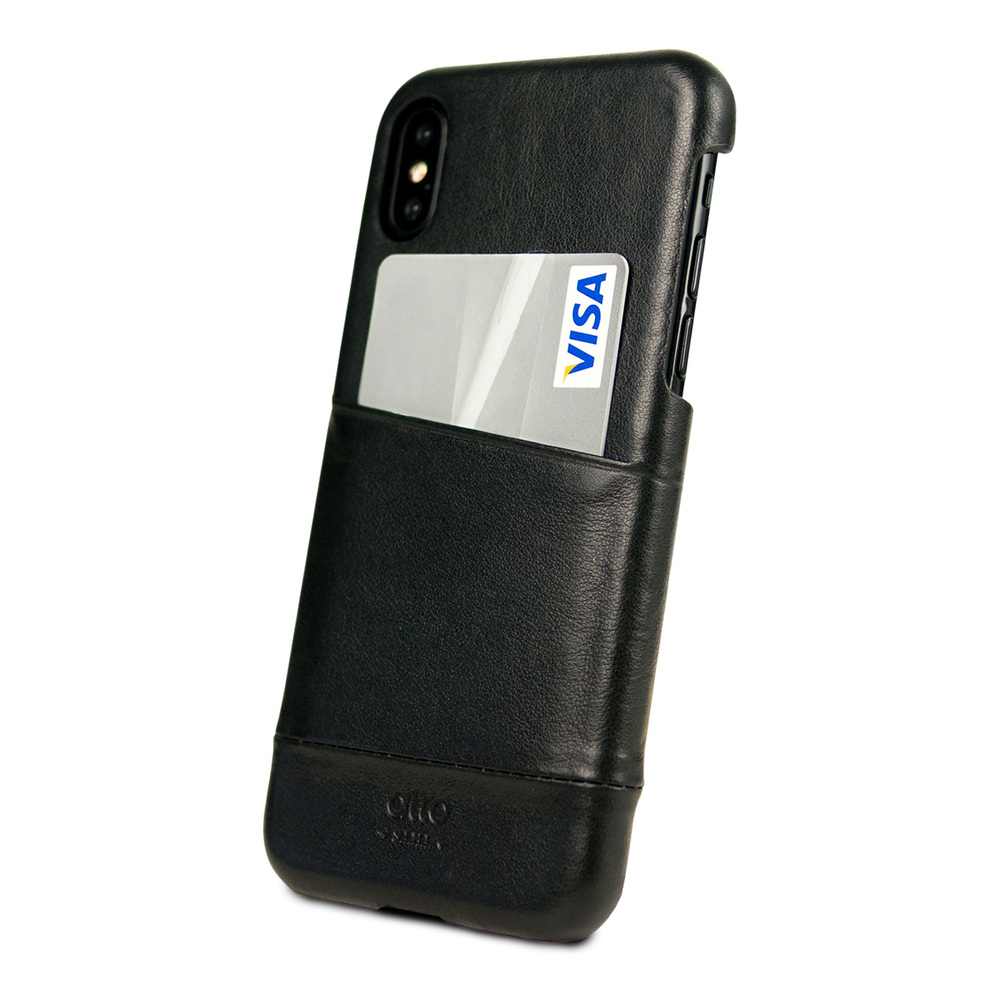 Alto|iPhone X / Xs 皮革保護殼 Metro (渡鴉黑)