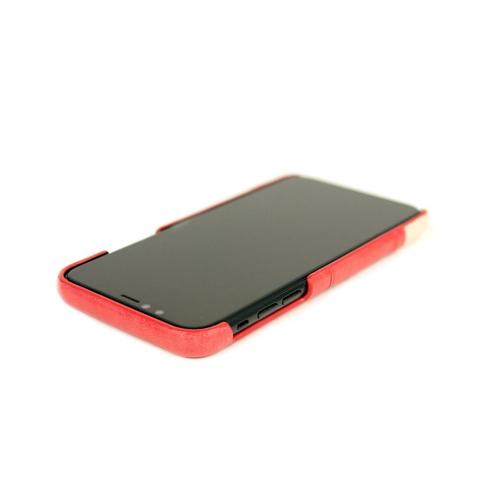 Alto|iPhone X / Xs 皮革保護殼 Metro (珊瑚紅/本色)