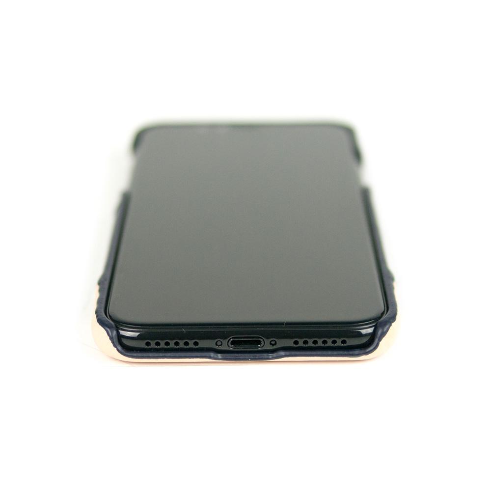 Alto|iPhone X / Xs 皮革保護殼 Metro (海軍藍/本色)
