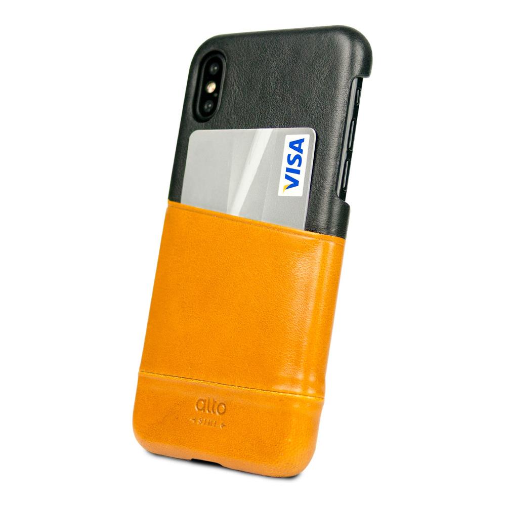 Alto|iPhone X / Xs 皮革保護殼 Metro (焦糖棕/渡鴉黑)