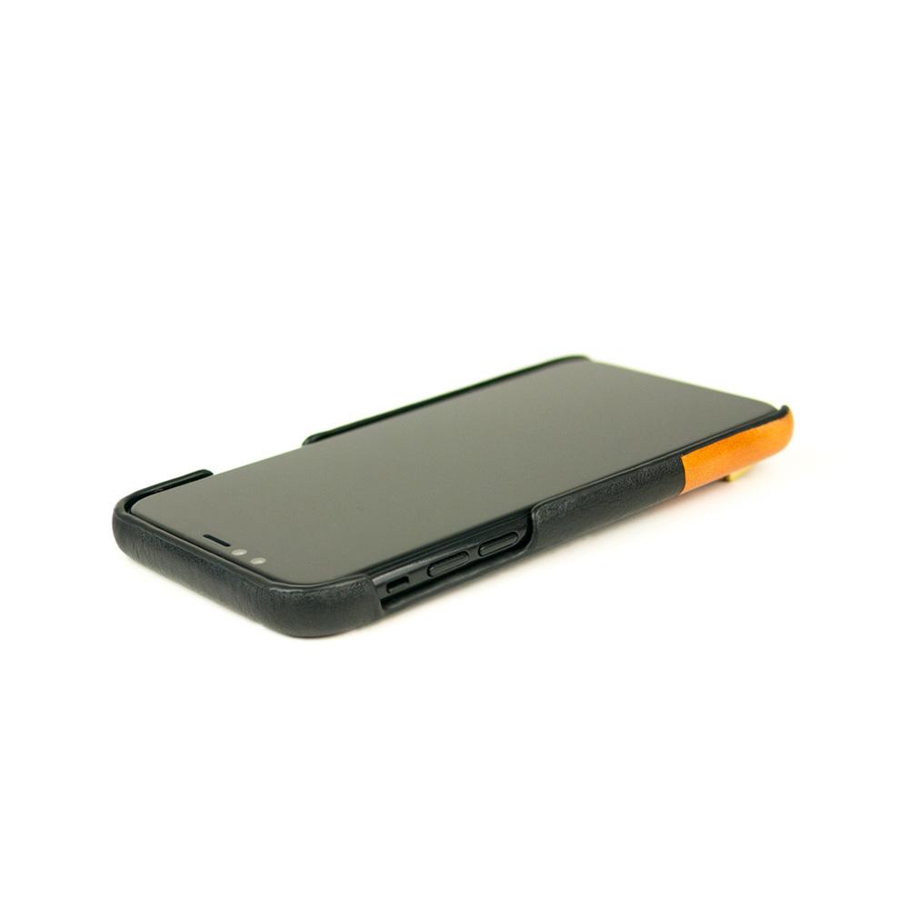 Alto iPhone X / Xs 皮革保護殼 Anello (渡鴉黑)