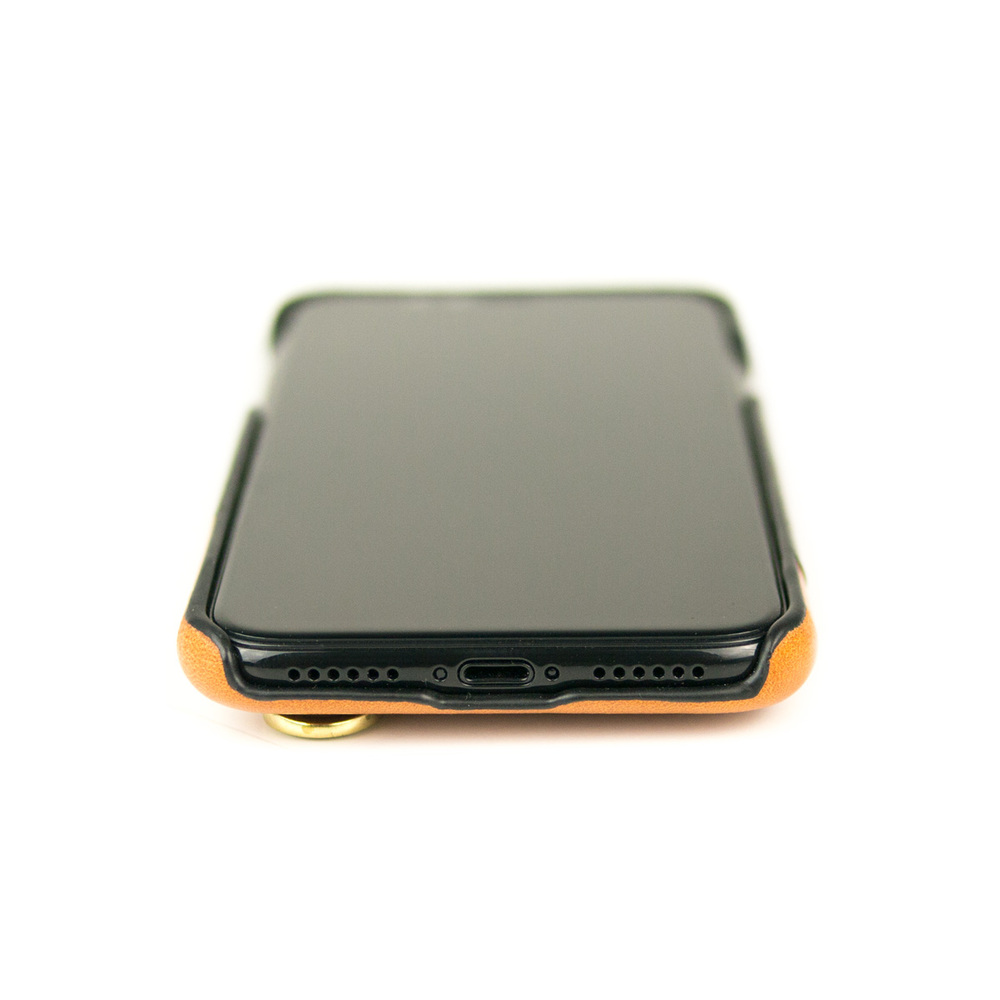 Alto|iPhone X / Xs 皮革保護殼 Anello (渡鴉黑)