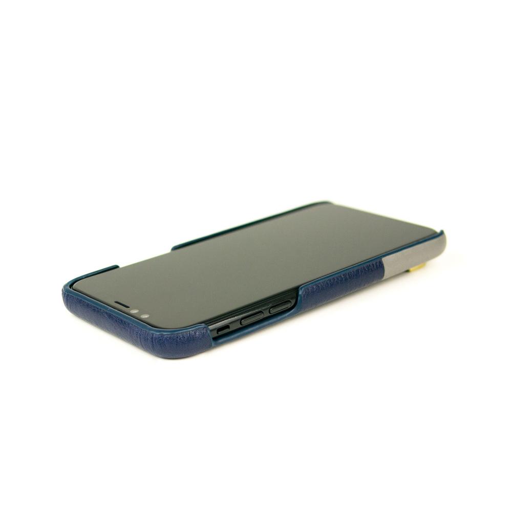 Alto|iPhone X / Xs 皮革保護殼 Anello (海軍藍)