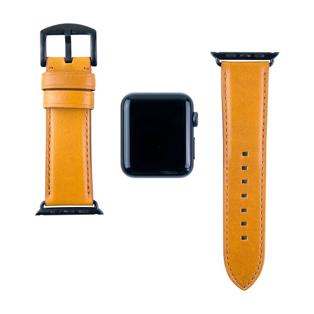 Alto|Apple Watch 皮革錶帶 42mm - 焦糖棕