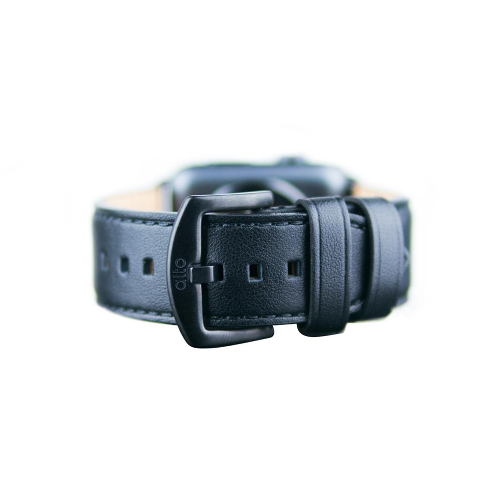 Alto|Apple Watch 皮革錶帶 42/44mm - 渡鴉黑