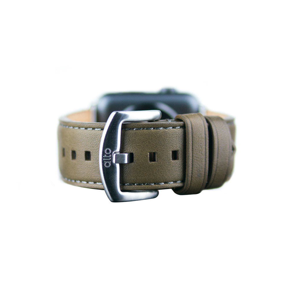 Alto Apple Watch 皮革錶帶 42/44mm - 橄欖綠