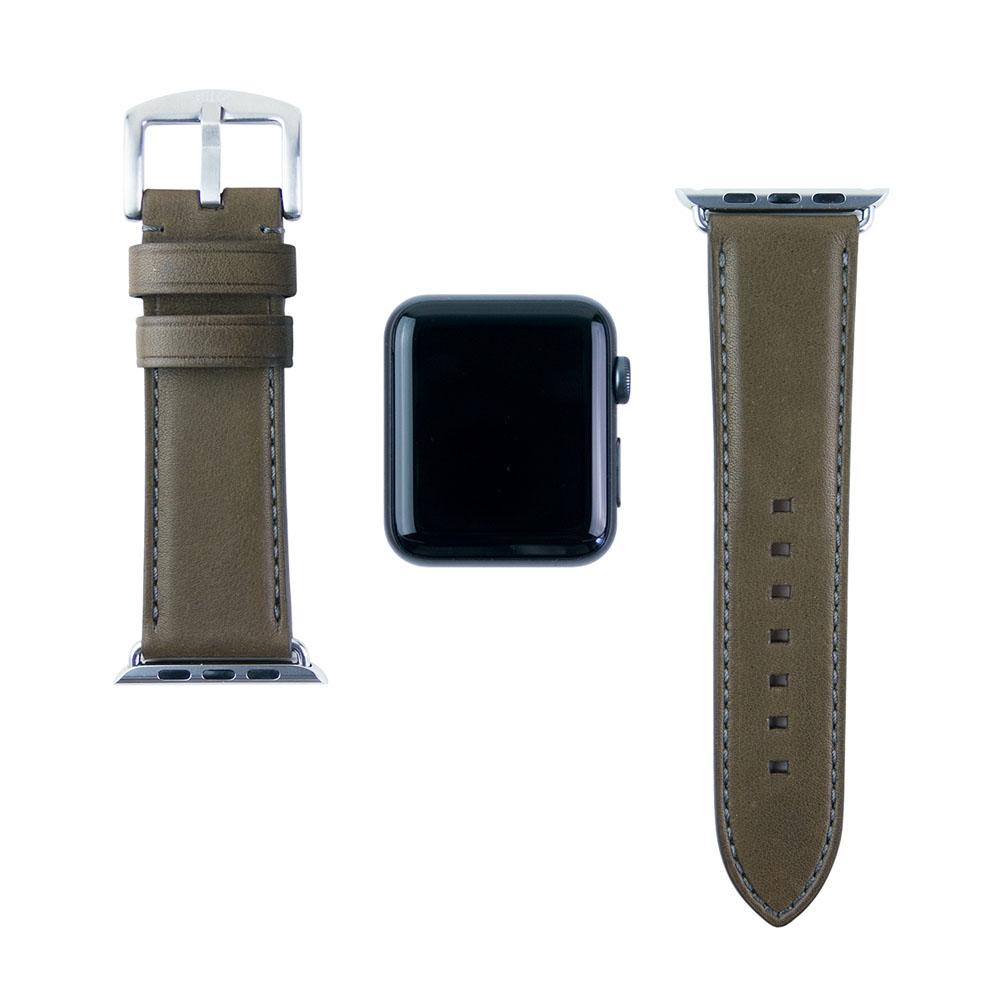 Alto|Apple Watch 皮革錶帶 42mm - 橄欖綠