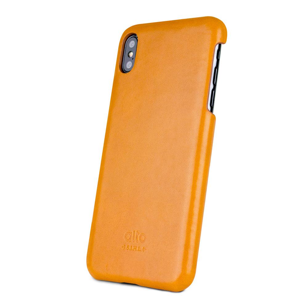 Alto|iPhone Xs Max 皮革保護殼 Original (焦糖棕)