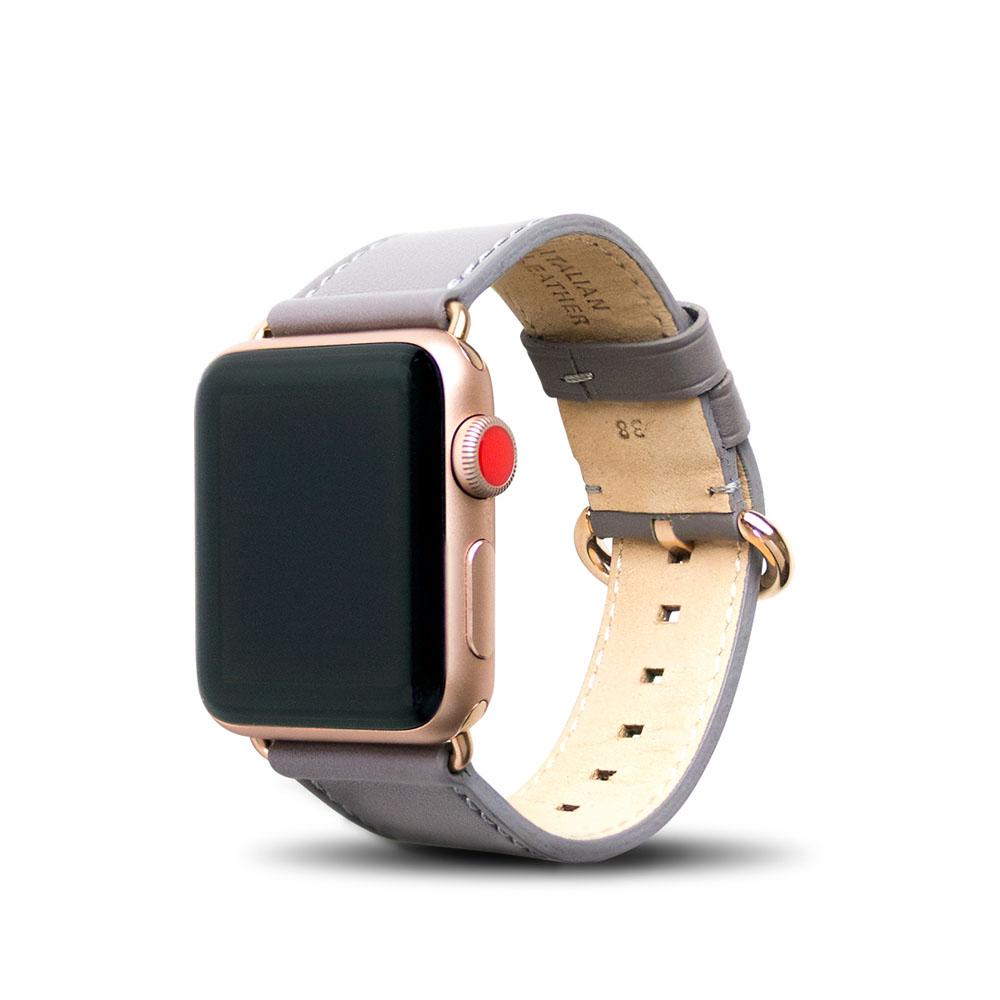 Alto|Apple Watch 皮革錶帶 38mm/40mm - 礫石灰