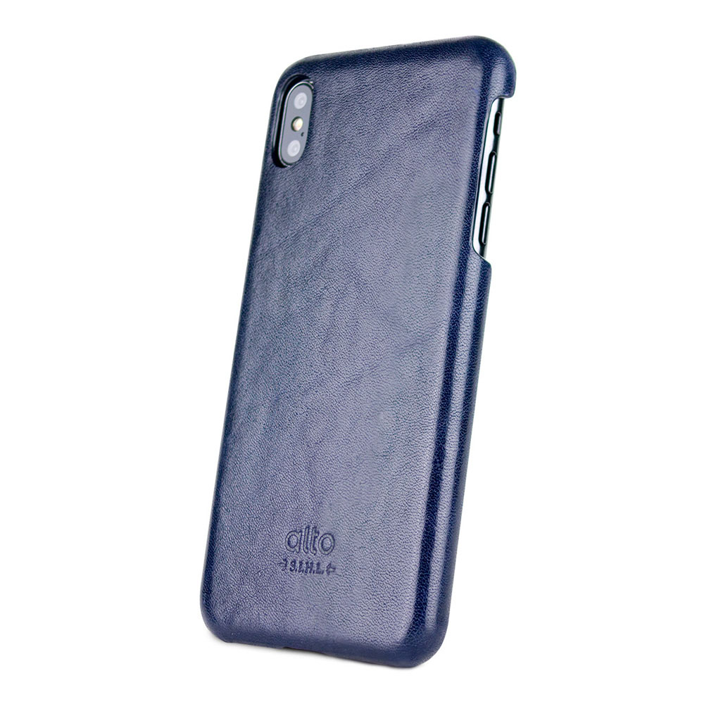 Alto|iPhone Xs Max 皮革保護殼 Original (海軍藍)