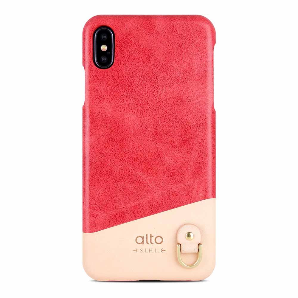 Alto|iPhone Xs Max 皮革保護殼 Anello (珊瑚紅)