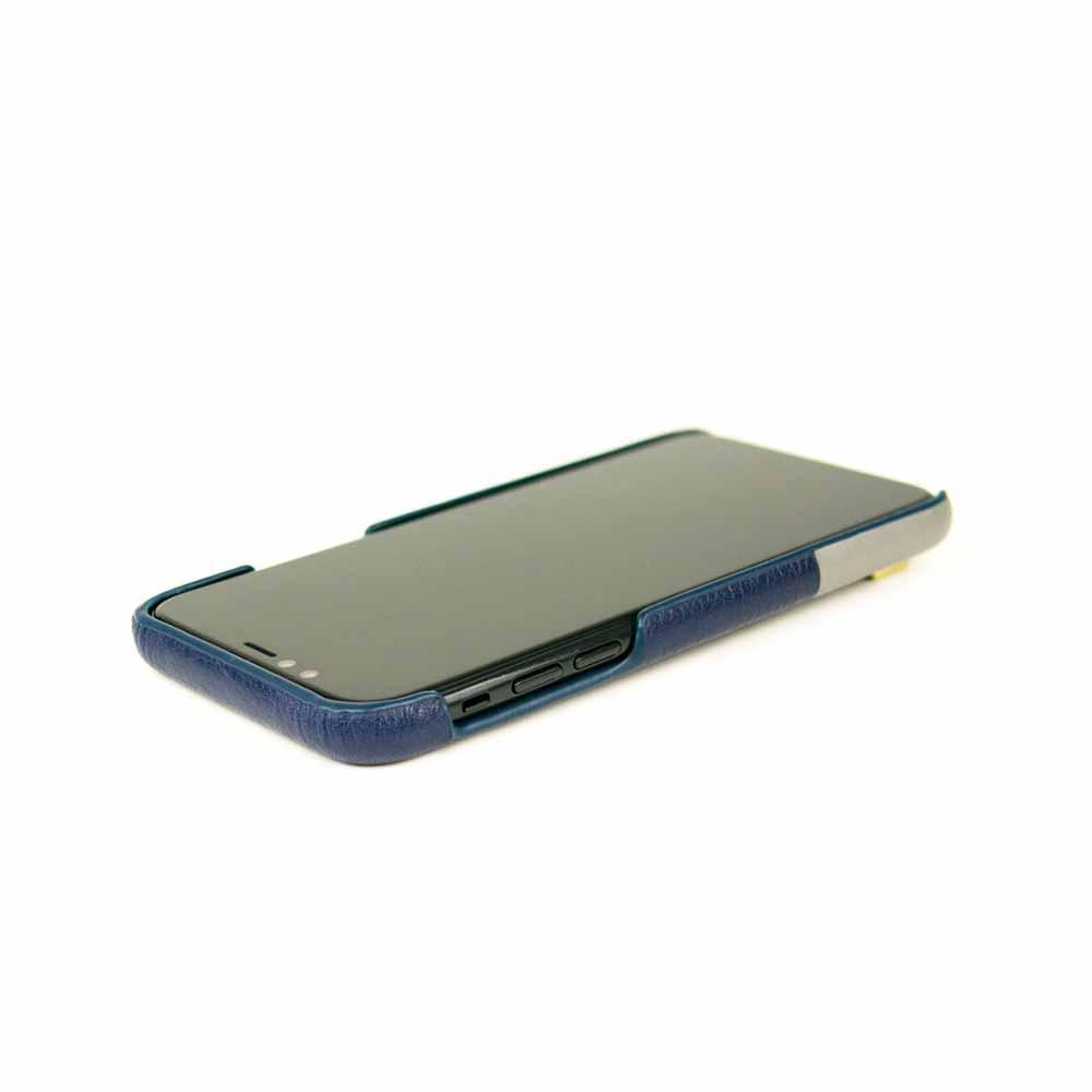 Alto|iPhone Xs Max 皮革保護殼 Anello (海軍藍)