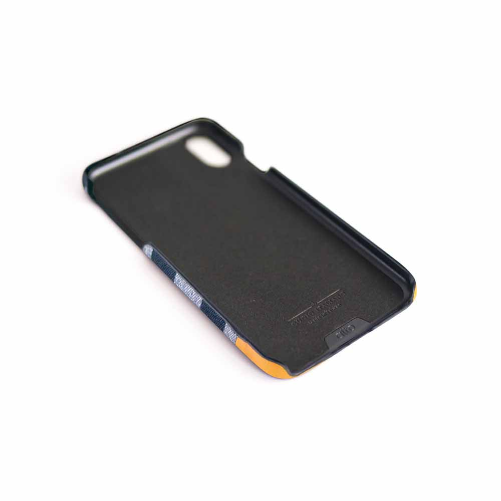 Alto|iPhone Xs Max 皮革保護殼 Denim (灰條紋)