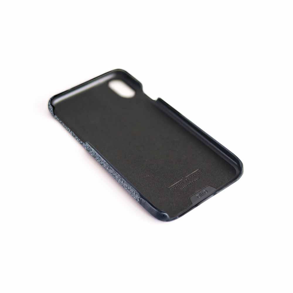 Alto|iPhone Xs Max 皮革保護殼 Denim (狼灰)