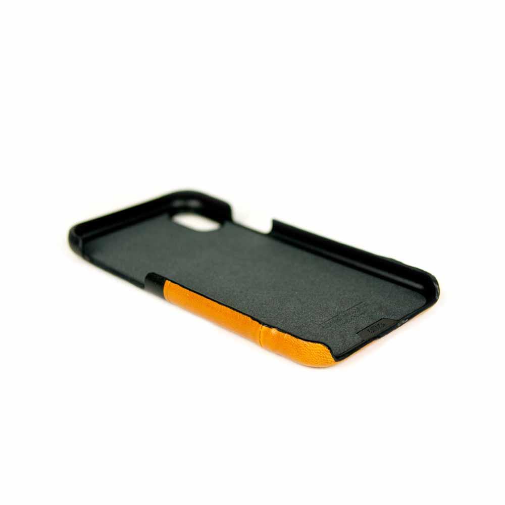 Alto|iPhone Xs Max 皮革保護殼 Metro (焦糖棕/渡鴉黑)