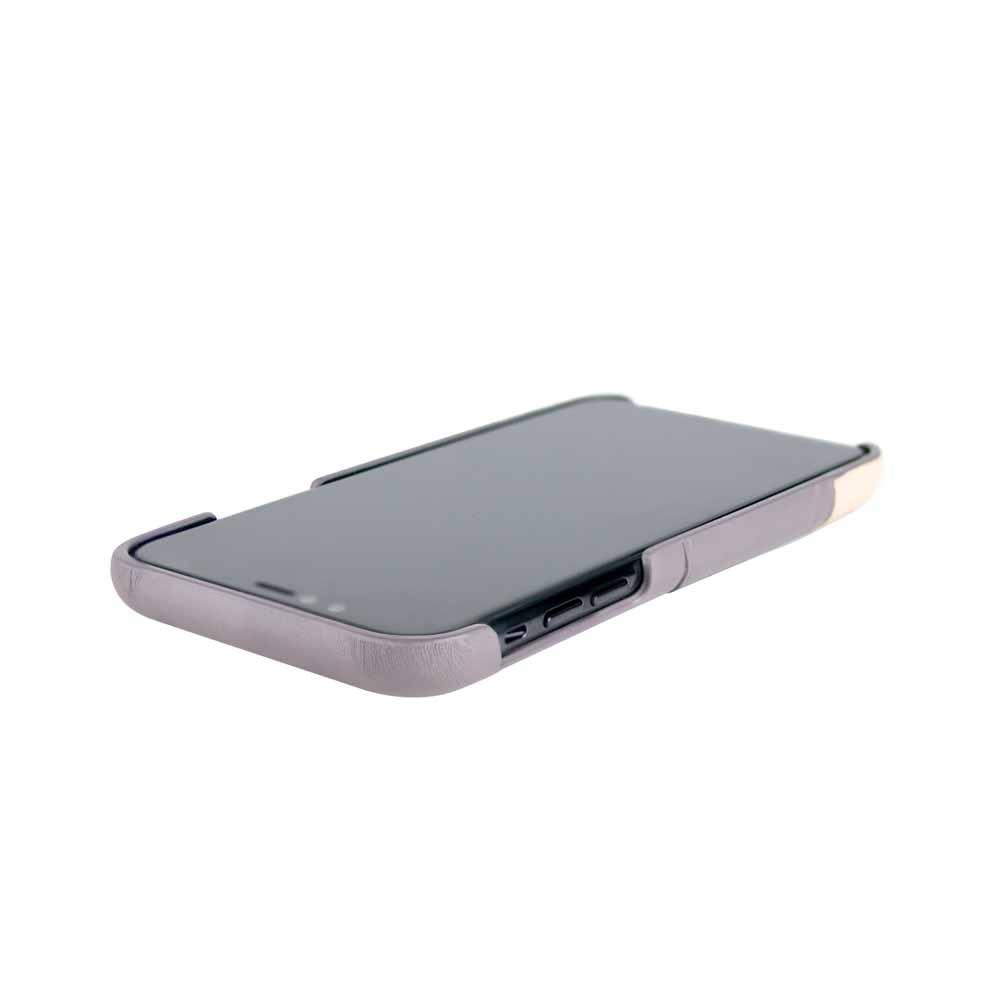 Alto|iPhone Xs Max 皮革保護殼 Metro (礫石灰/本色)