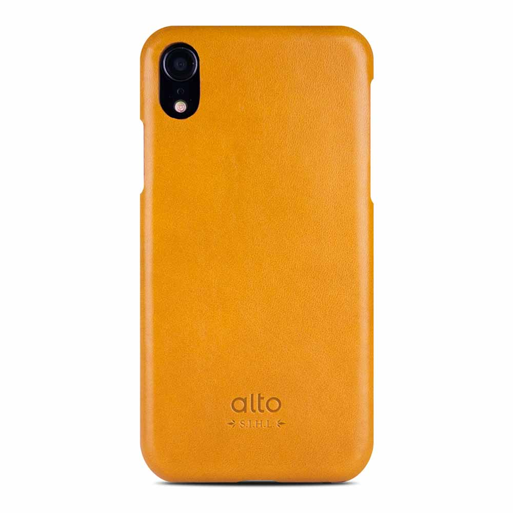 Alto|iPhone XR 皮革保護殼 Original (焦糖棕)