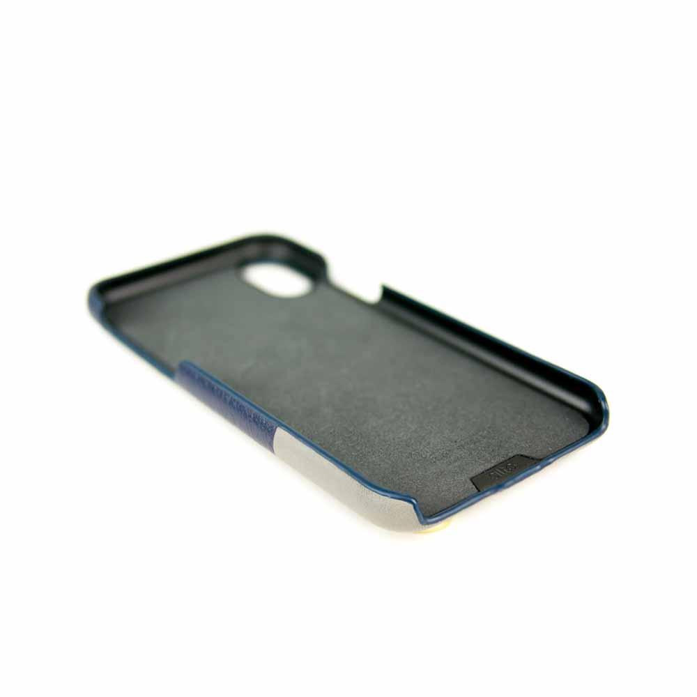 Alto|iPhone XR 皮革保護殼 Anello (海軍藍)