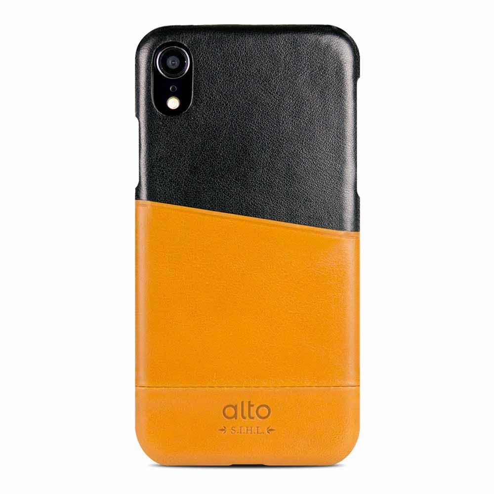 Alto|iPhone XR 皮革保護殼 Metro (焦糖棕/渡鴉黑)