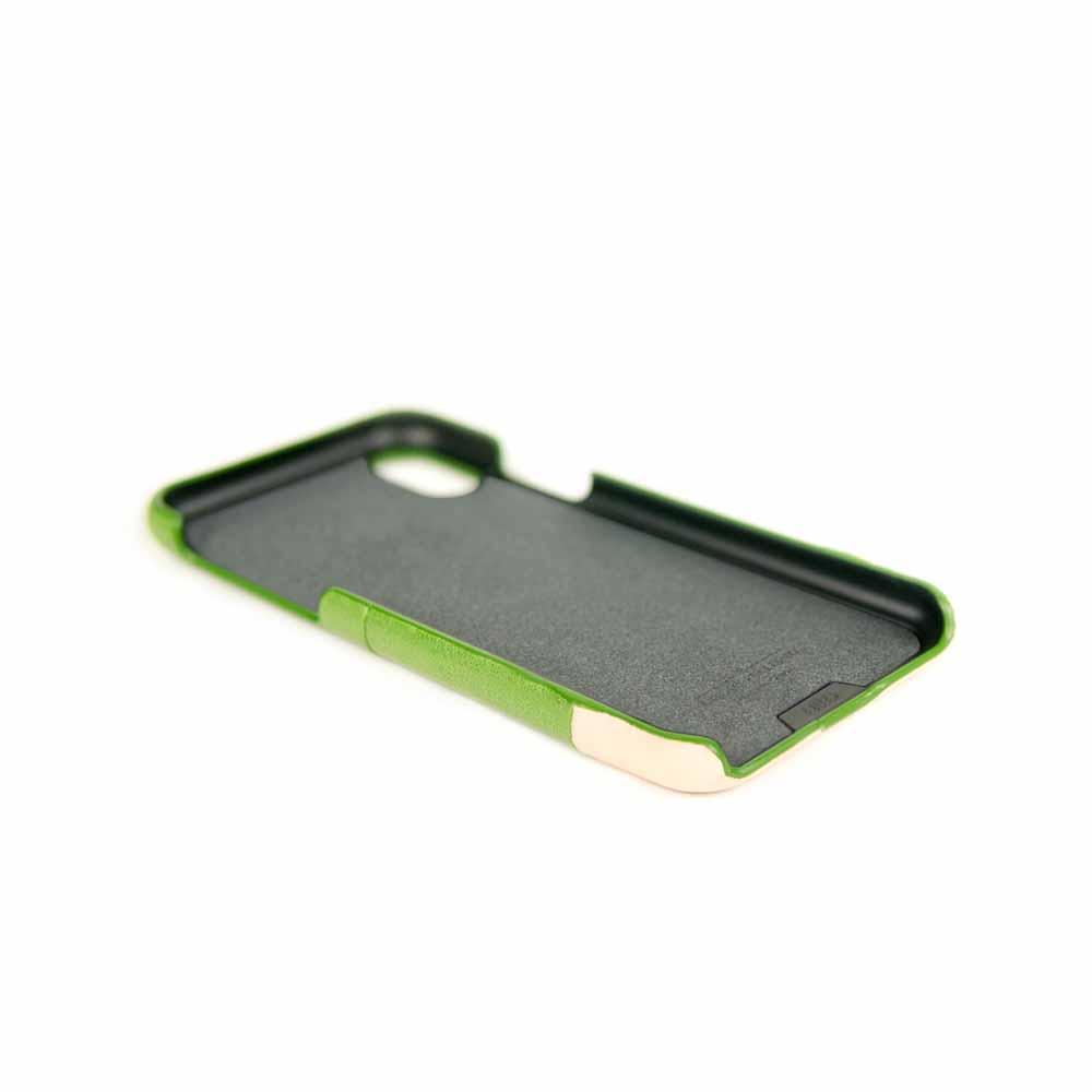 Alto|iPhone XR 皮革保護殼 Metro (萊姆綠/本色)