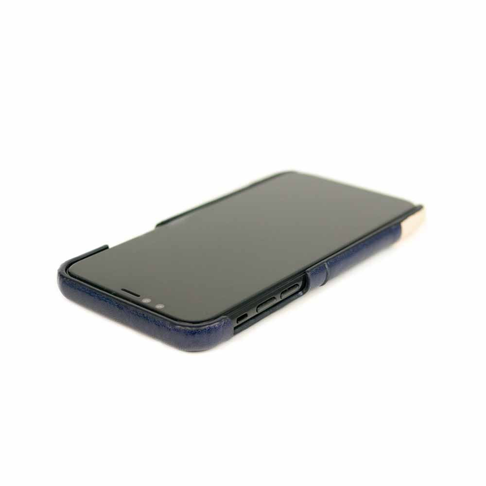 Alto|iPhone XR 皮革保護殼 Metro (海軍藍/本色)
