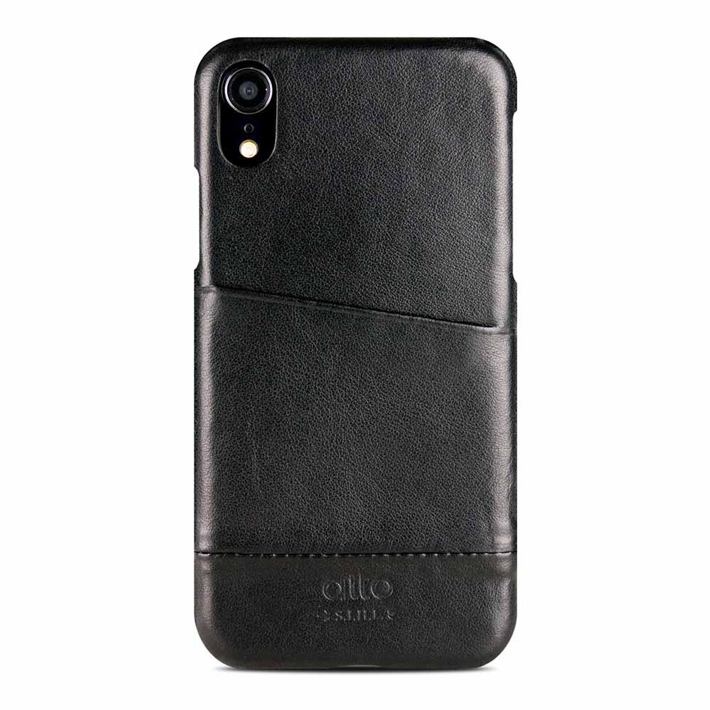 Alto|iPhone XR 皮革保護殼 Metro (渡鴉黑)