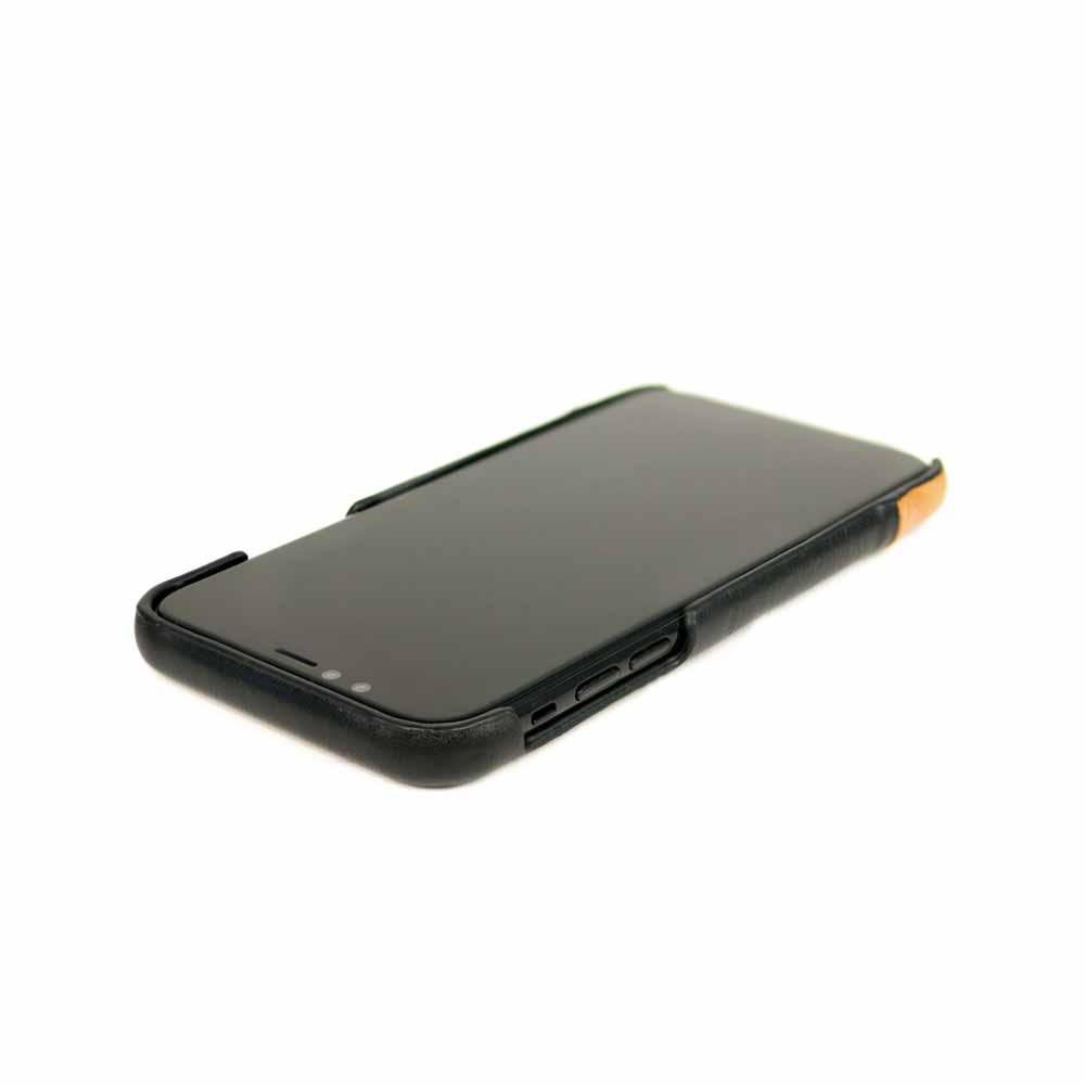 Alto|iPhone XR 皮革保護殼 Metro (渡鴉黑/焦糖棕)